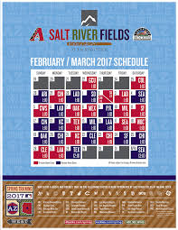 Diamondbacks Stadium Map Spring Training Information Salt River Fields