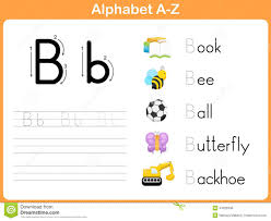 alphabet tracing worksheet stock vector image 44028348