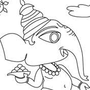 ganesh 01 colouring pages for kids mocomi