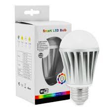wifi bluetooth controlled led color smart light bulb 7w e27 rgbw lamp