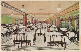 rosslyn hotel u0027s dining room in 1920s los angeles old los