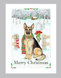 german shepherd dog christmas cards box of 16 cards and by judzart