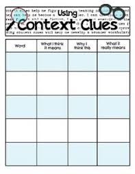context clues word sleuth context clues third grade and worksheets