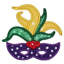 mardi gras mask and applique only mardi gras mask applique