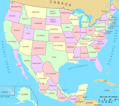 Mexico Wall Map Usa And Mexico Wall Map Maps Com Usa All World Maps