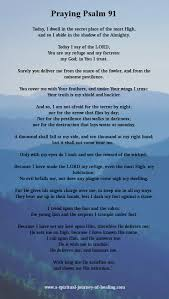 psalm 91 adapted to be said as a prayer for strength protection