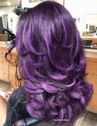 shag haircut brown hair with lavender grey streaks 50 lovely long shag haircuts for effortless stylish looks hair