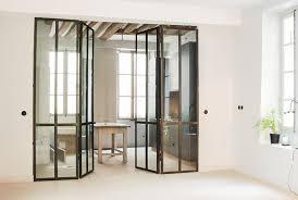 porte de cuisine en verre cloison verre cuisine cloison type atelier cusine et salon verre