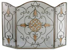 inspiration idea iron fireplace screens with hand wrought iron