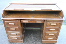 jefferson roll top desk large oak kneehole rolltop desk 248743 sellingantiques co uk