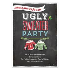 holiday invite ugly sweater party invitations u0026 cards on pingg com