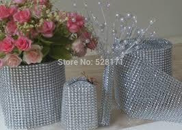 diamond mesh ribbon aliexpress buy free shipping 4 5 x10yards 24rows silver