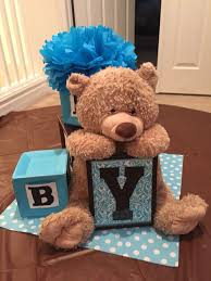 teddy centerpieces for baby shower 14 best baby shower building block centerpiece images on