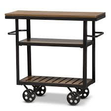 Industrial Style Furniture by Baxton Studio Kennedy Rustic Industrial Style Antique Black