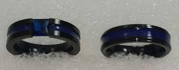 thin blue line wedding band wedding rings beauty