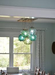 glass fishing float pendant light vintage glass fishing float light fixture with 3 floats lights by