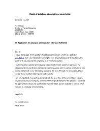 database administrator cover letter great cover letter for