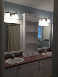 Large Mirrored Bathroom Cabinets by Revamp Large Bathroom Mirror Frame With A Shelf Down The Middle