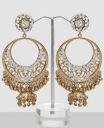 chandbali earrings online chand bali earring with stones ghungroo online shopping
