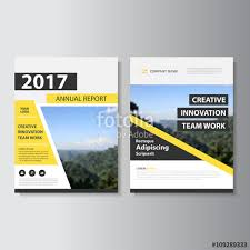 yellow vector business proposal leaflet brochure flyer template