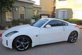 white nissan 350z modified z car blog nissan 350z