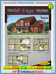 House Building Plans And Prices Edge Water Rochester Modular Home Two Story Plan Price