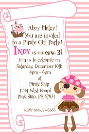 What Is Rsvp On Invitation Card Pirate Party Invitation Card For A Customize