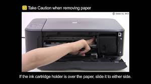hide printer pixma mg3520 removing a jammed paper inside the printer youtube
