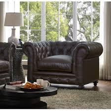 Leather Chesterfield Armchair Chesterfield Chair Leather Wayfair