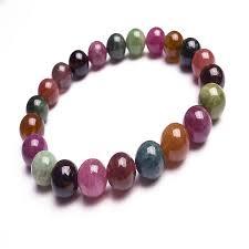 8 12 5mm natural tourmaline stone strand stretch bracelets for