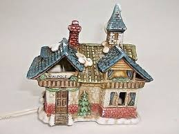ceramic house vintage dickens candle holders