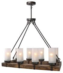industrial style wood chandeliers for kitchen island dining room