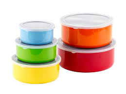 Stainless Steel Kitchen Canisters Amazon Com 10 Pcs Colorful Stainless Steel Mixing Bowls Or Food
