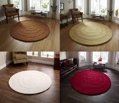 Modern Circular Rugs Spiral Tufted 100 Wool Circular Rug Modern Textured