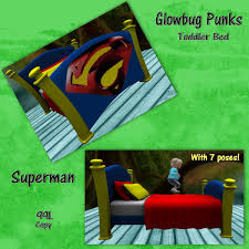 Toddler Bedroom In A Box Second Life Marketplace Gbp Toddler Bed Superman Box