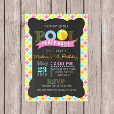printable pool invitation birthday pool invite