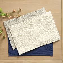 faux bois quilted placemats set of 4 ballard designs