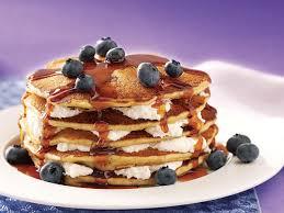 blueberry pancake recipe blueberry cheesecake flapjacks recipe taste of home