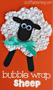 mini marshmallow sheep ornament