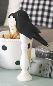 Simple Halloween Craft by Poe Inspired Raven Halloween Decor Lolly Jane