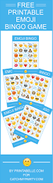 free printable emoji bingo game comes with 8 bingo cards and