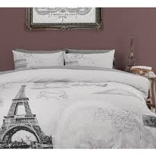 eiffel tower girls bedding astonishing image of bedroom decoration using light gray