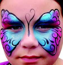 easy butterfly face paint makeup idea facepaint pinterest