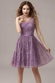 purple lace bridesmaid dress purple one shoulder knee length lace bridesmaid dress
