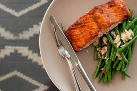 Bake Salmon In Toaster Oven Bbq Baked Salmon Or Tofu And Almond Green Beans U2013 Cook Smarts