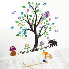 unique kids bedroom tree room ideas with and owl vinyl wall in decor sticker n and design kids bedroom tree