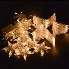 loskii dx 336 220v led light string star shape curtain light home
