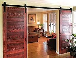 Sliding Wooden Closet Doors Diyhd 8ft Bent Rustic Black Sliding