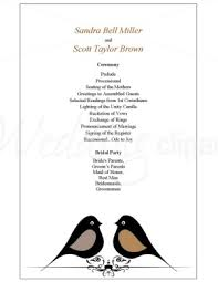 Wedding Program Sample Template One Page Wedding Program Tbrb Info