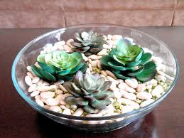 marvelous green floral on glass plate decoration for coffee table